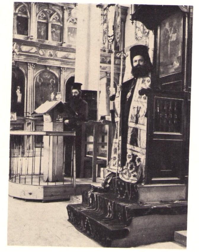 O arxidiakonos Athhnagoras sto PSalthri naoy tou Monasthriou (2)